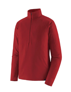 MEN'S CAP MW ZIP NECK - Classic red