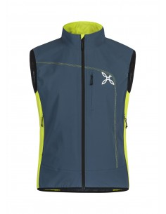 RUN POWER VEST - Montura - Blu Cenere / Verde Lime