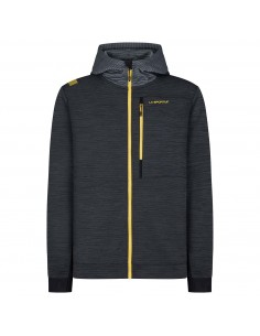 TRAINING DAY HOODY - La Sportiva - Black/Yellow